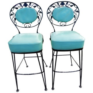 Bar Stools by Woodard Rare For Sale