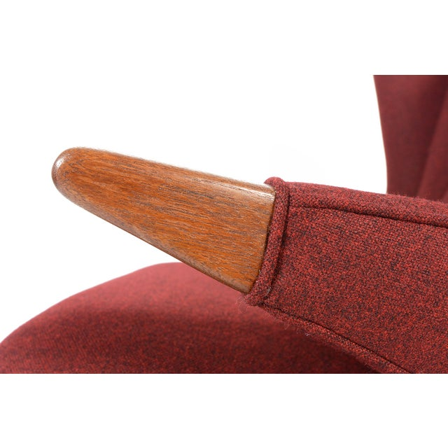 Svend Skipper Model 91 Burgundy Lounge Chair For Sale - Image 10 of 10