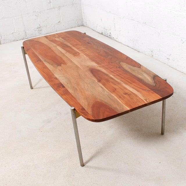 Laverne Exotic Wood Coffee Table - Image 3 of 6