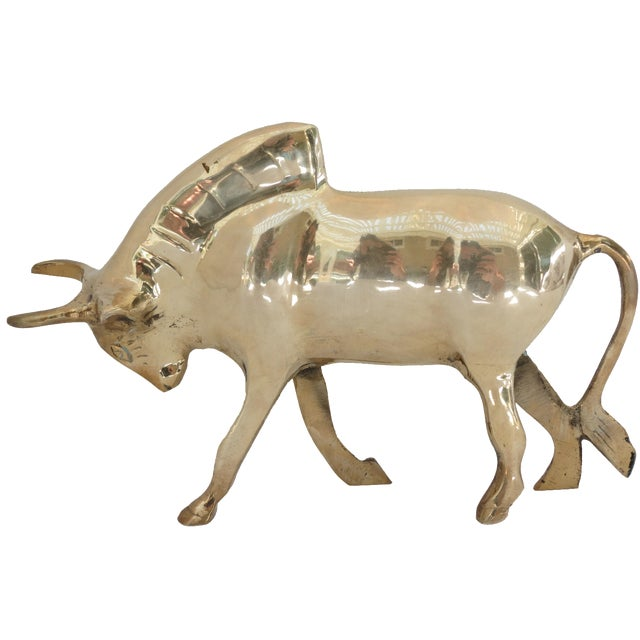 Vintage Brass Bull - Image 1 of 5
