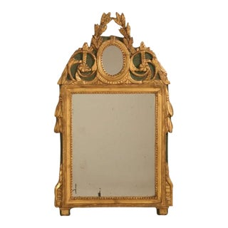 18th Century Original Paint and Gilt Mirror For Sale