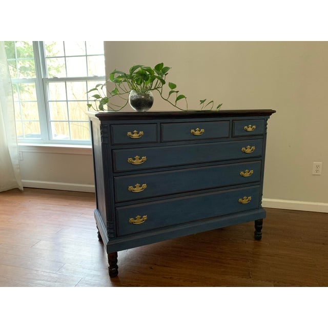 1960s Traditional Navy Dresser For Sale - Image 9 of 13