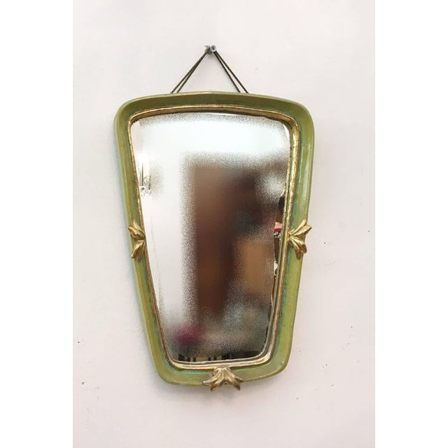 1930s Vintage Art Deco ceramic wall mirror by Gmundner Keramik For Sale - Image 5 of 6