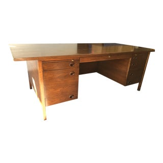 1960s Mid-Century Modern Edward Wormley for Dunbar Executive Desk For Sale