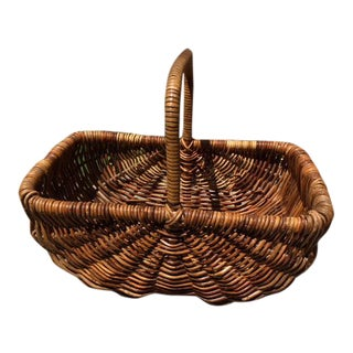 Vintage Wicker Basket For Sale