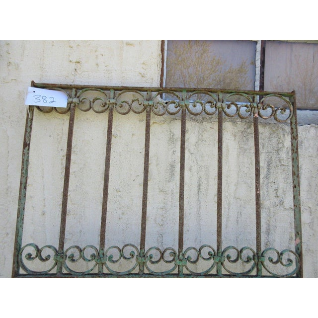Industrial Antique Victorian Iron Gate For Sale - Image 3 of 6