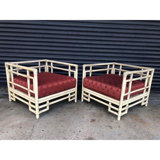 Vintage Ficks Reed Rattan Fretwork Lounge Chairs- a Pair For Sale - Image 13 of 13