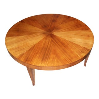 Widdicomb Inlay Patterned Hardwood Coffee Table For Sale
