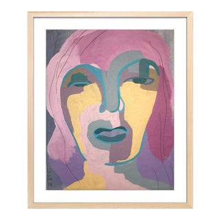 Abstract Portrait by Contemporary Artist Linda Ward For Sale