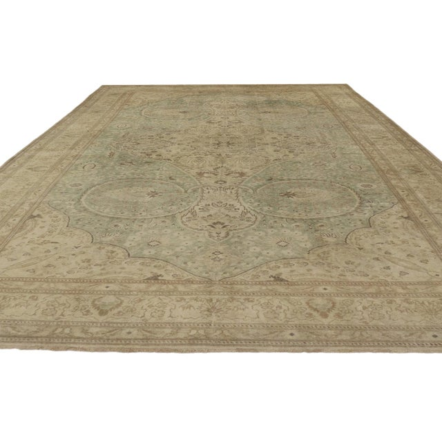 Traditional Distressed Vintage Turkish Sivas Rug - 08'00 X 12'05 For Sale - Image 3 of 8
