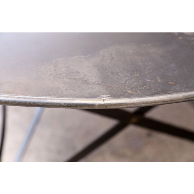 Metal Oval Hand-Forged Steel Table For Sale - Image 7 of 8