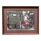 Image of 1950s Vintage Abstract Signed Serigraph Print For Sale