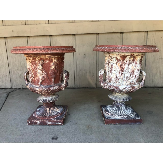 Ceramic Late 18th Early 19th Century Italian Terra Cotta Urns - A Pair For Sale - Image 7 of 13