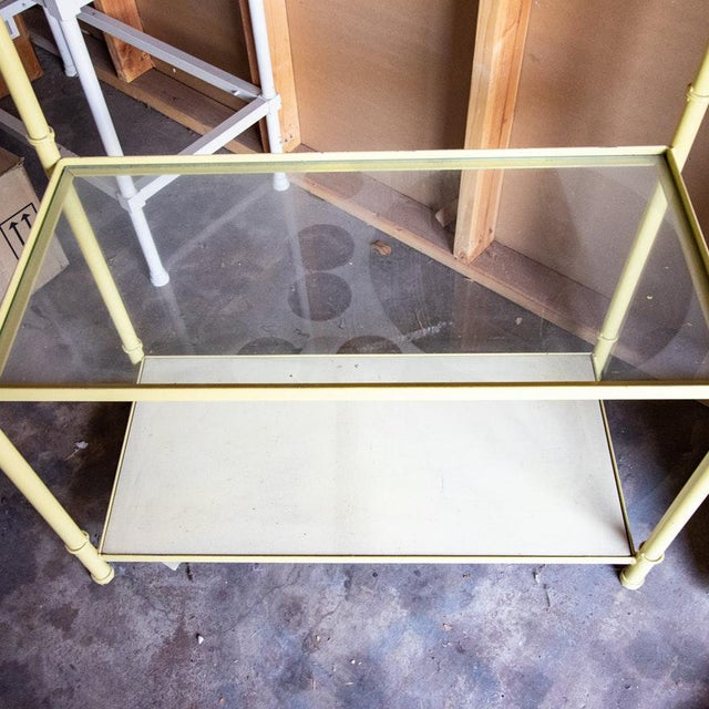 Maison Jansen Jansen Style Yellow Painted Metal Framed 5-Tier Etagere For Sale - Image 4 of 8