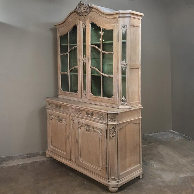 French 19th Century Country French Provincial Stripped Bookcase ~ Vitrine For Sale - Image 3 of 13