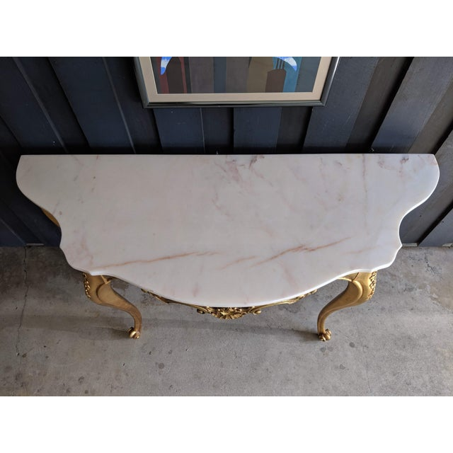 1960s Weiman Marble & Gilt Console For Sale In Dallas - Image 6 of 12