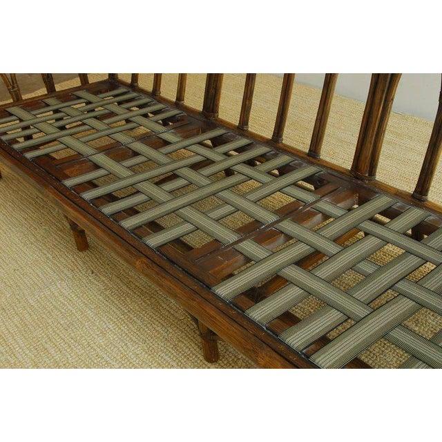 Brown McGuire Organic Modern Bamboo Rattan Sofa For Sale - Image 8 of 13