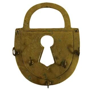 Brass Padlock Key Holder For Sale