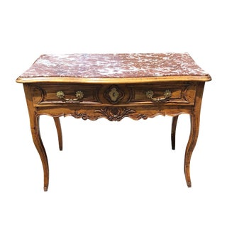 18th Century French Louis XV Carved Walnut Table For Sale