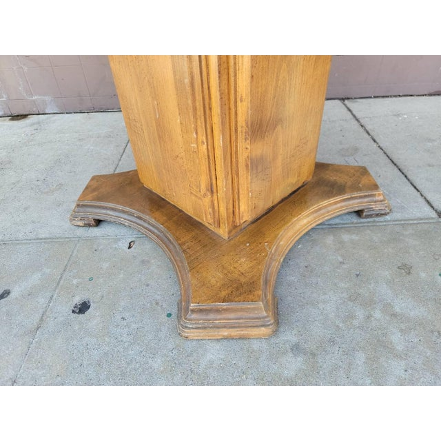 Vintage Modern Wood Dining Table For Sale - Image 9 of 13