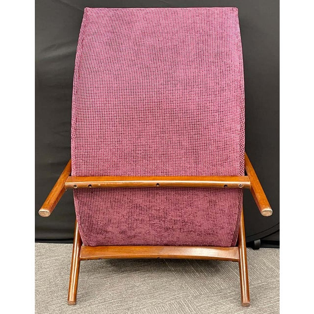 Pair of Newly Upholstered Mid-Century Modern Armchairs For Sale - Image 10 of 13