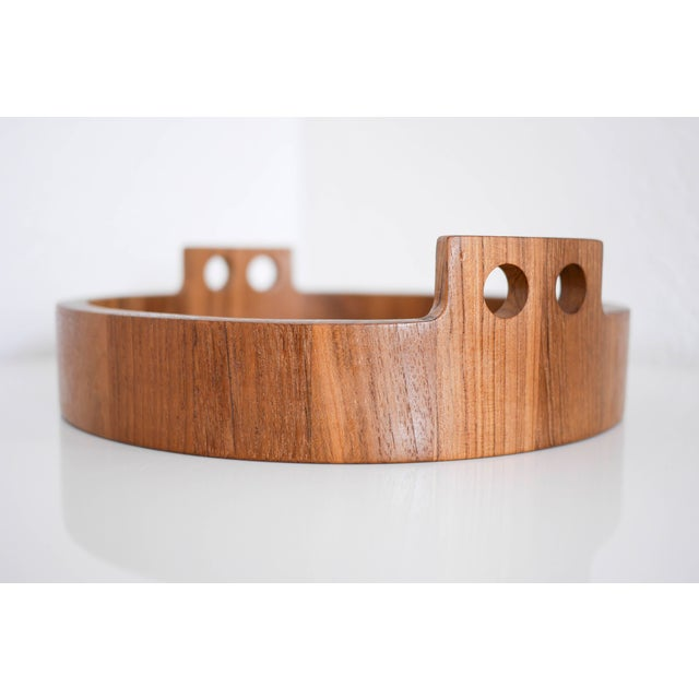 Danish Modern Teak Serving Tray by Birgit Krogh for Woodline - Image 2 of 6
