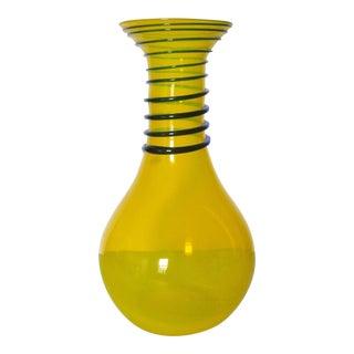 Blenko Modern Design Art Glass Vase For Sale