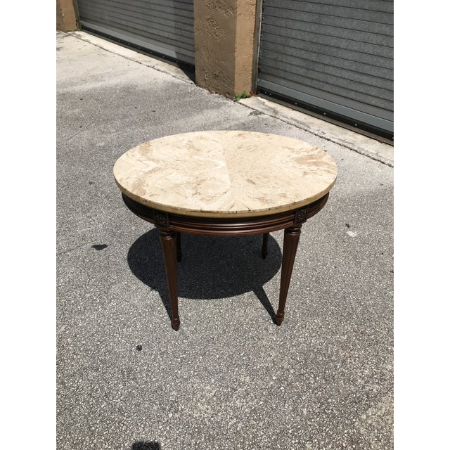 1910s French Louis XVI Marble Top Side Table For Sale In Miami - Image 6 of 13