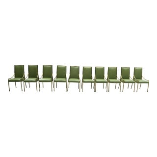 Empiric Studio Green Dining Room Chairs - Set of 10 For Sale