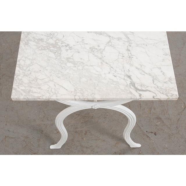 French 19th Century White Marble-Top Bistro Table For Sale - Image 4 of 13