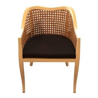 CB2 Taybas White Cane Side Chair