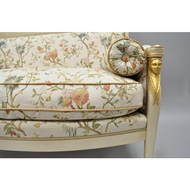 Early 20th Century Early 20th Century Vintage French Empire Style Settee For Sale - Image 5 of 11