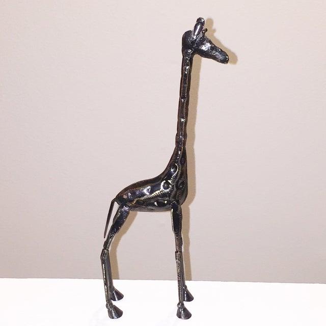 Tall Metal Giraffe Sculpture - Image 3 of 4