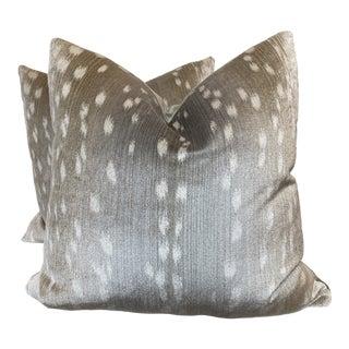 """Antelope Velvet 22"""" Pillows-A Pair For Sale"""