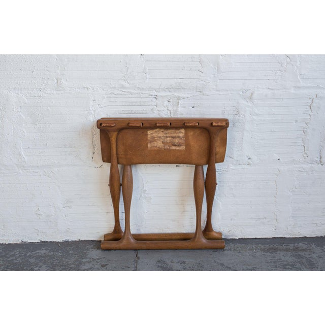 Poul Hundevad Leather Folding Guldhoj Ph 43 Stool For Sale - Image 5 of 6