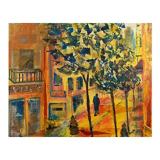 'New Orleans Street' by Alice Childray, American Post-Impressionist For Sale