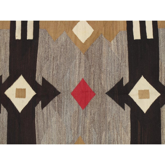 "Early 20th Century 20th Century Folk Art Navajo Carpet - 4'6""x7' For Sale - Image 5 of 9"