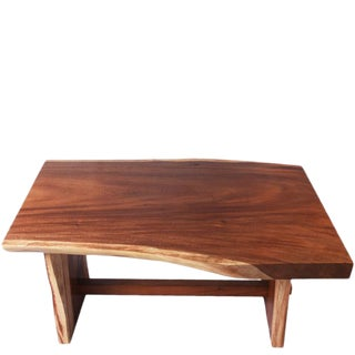 Organic Modern Living Edge Dining Table 2 For Sale