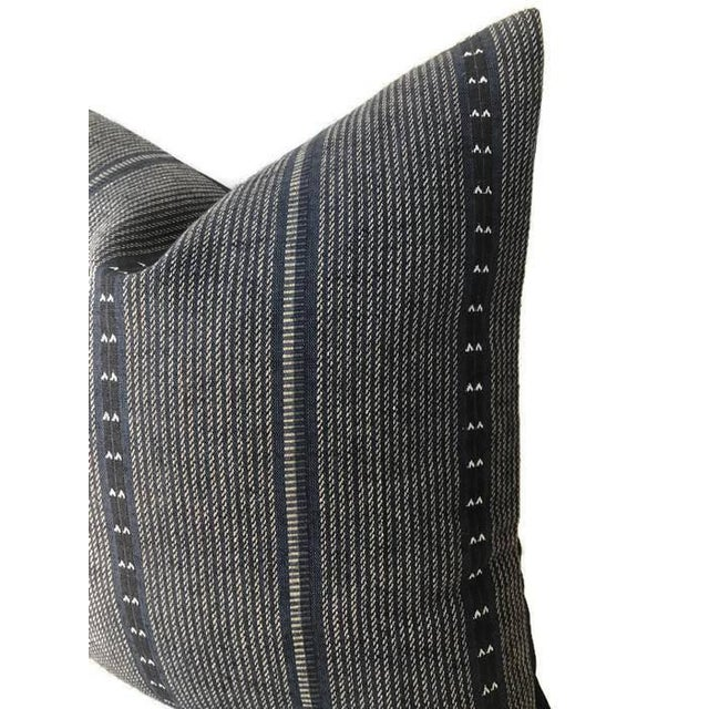 Art Deco Navy Blue Zak & Fox Poncho Pillow Cover For Sale - Image 3 of 4