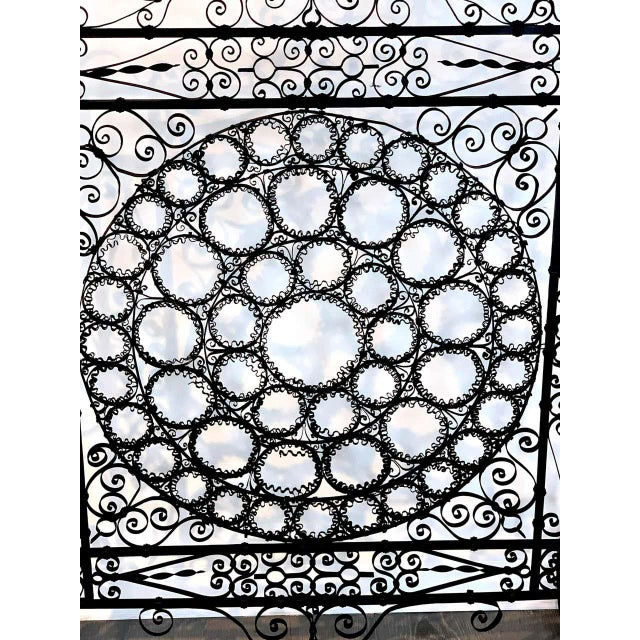 High Victorian Wrought Iron Wire Work Medallion Fires Screen For Sale In West Palm - Image 6 of 13
