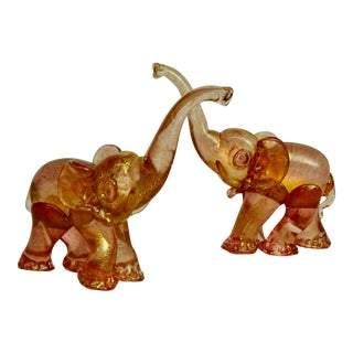 Murano Elephants, Barovier Attr. - a Pair For Sale