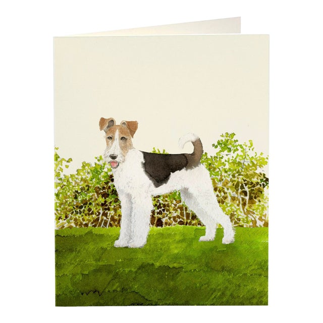 """The """"Fox Terrier"""" Desk Box celebrates this breed of dogs that reminds us of Tintin's sidekick, Snowy. The Desk Box..."""
