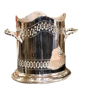 English Silver Plate Wine Sleeve For Sale