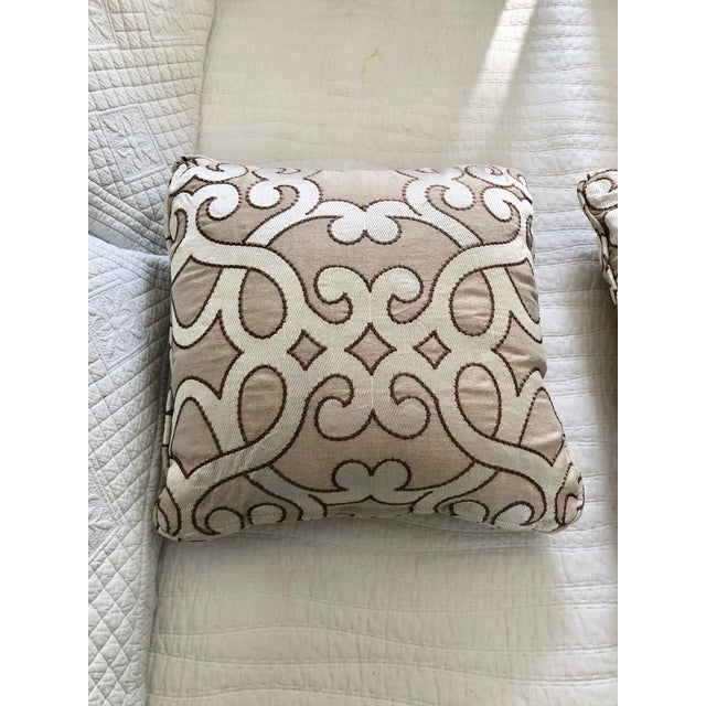 """Scalamandre Damascus Embroidery Square 18"""" Pillows (3 Available) For Sale - Image 13 of 13"""