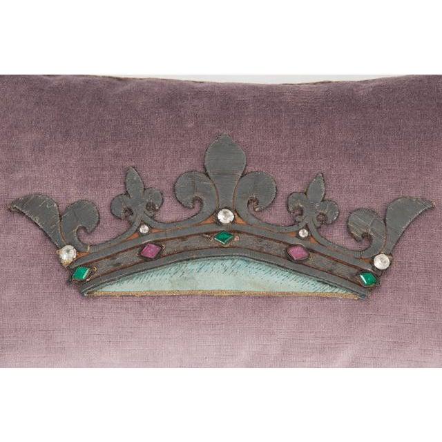 Mid 19th Century B. Viz Design Antique Textile Pillow For Sale - Image 5 of 8