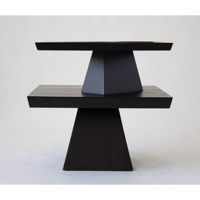 Brutalist Two-Tiered End Table - Image 11 of 11