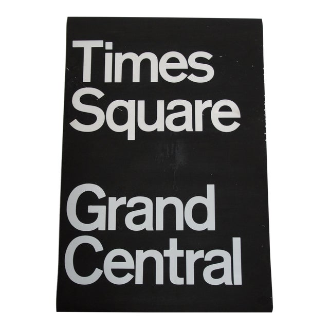 1980s Americana New York City Times Square Subway Sign For Sale