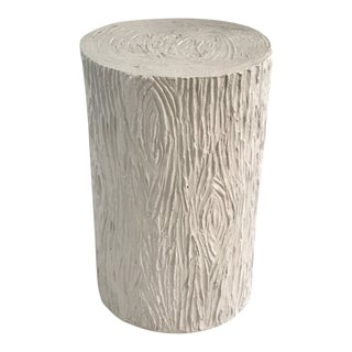 Vintage Faux Bois Plaster Side Table For Sale