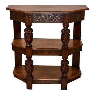 19th C English Oak Shelf For Sale