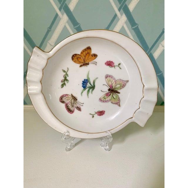 1950s Lj Porcelain Japan Butterfly Dish For Sale - Image 5 of 5